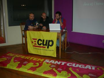 La CUP durant la presentació del cartell electoral
