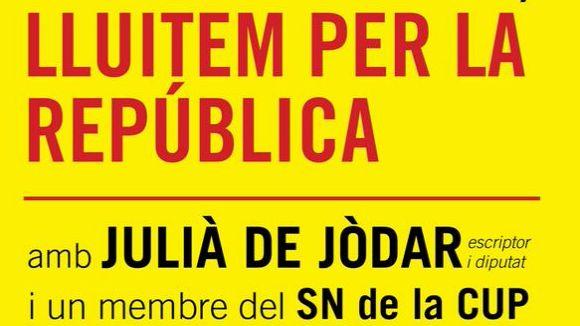 Julià de Jòdar (CUP) participa en una trobada informativa dijous a Cal Temerari