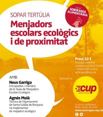 Cartell de la xerrada / Font: CUP