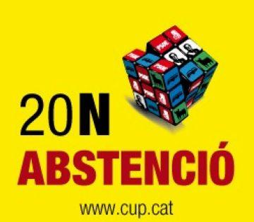 La CUP engega una campanya a favor de l'abstenció en les eleccions del 20-N