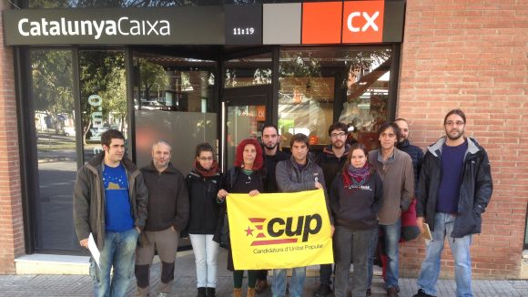 La CUP critica el silenci de l'Ajuntament en el desallotjament de la PAH de Rubí