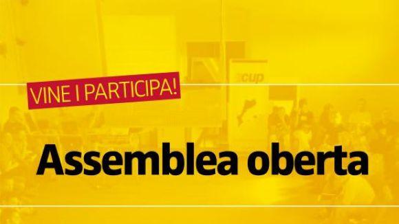 La CUP organitza avui una assemblea oberta a la ciutadania