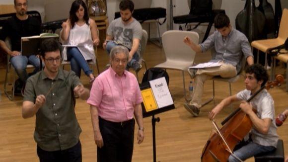 Els alumnes del Curs de Direcció d'Orquestra Ros Marbà comencen les pràctiques a l'escola de música municipal