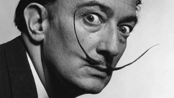 Quadres hi exposa fotos mai vistes de Salvador Dalí.