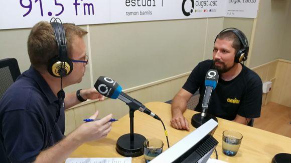 Daniel Bret, a la dreta, durant l'entrevista