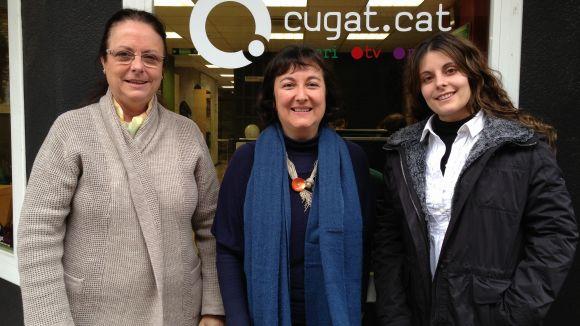 Inmaculada Balcells, Marisol de la Orden i Laura Ribes, a Cugat.cat