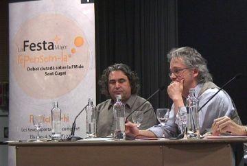 La taula de debat sobre la gestió de la festa