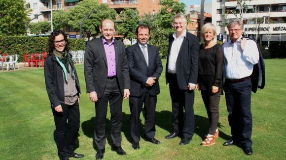 La delegació finesa aquest matí a Sant Cugat / Foto: Localpres