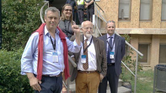 La delegació internacional