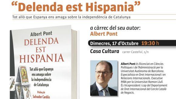 Albert Pont presentarà a Sant Cugat el seu llibre 'Delenda est Hispania'
