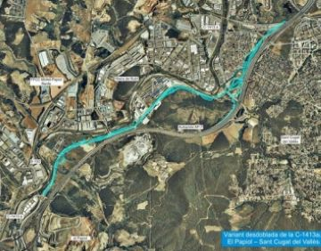 Aprovat el projecte de desdoblament de la C-1413a entre Sant Cugat i el Papiol