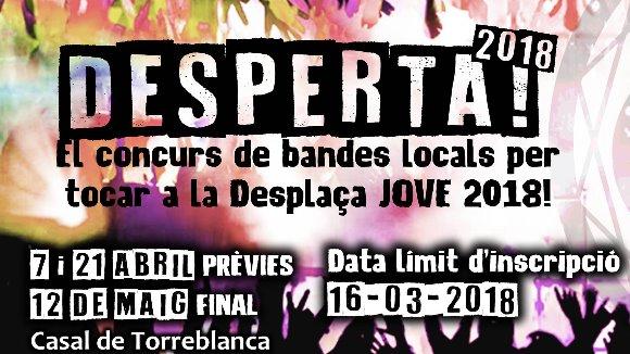 Desperta!: Concurs de bandes per tocar a la DesPlaça Jove de Festa Major