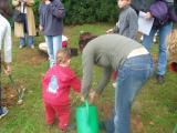 Infants de la zona i de les escoles Avenç i Floresta s'han aumat a plantar un arbre.