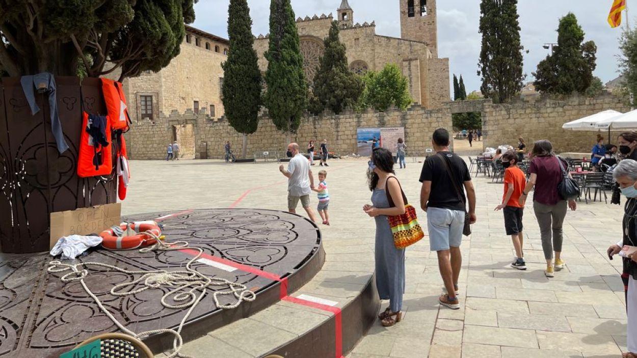 Un dels punts itinerants del recorregut commemoratiu / Foto: Cugat Mèdia