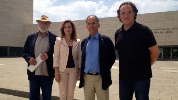D'esquerra a dreta: Eduard Jener, Gemma Navarra, Xavier Escura i Carles Miró
