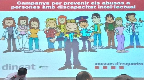 Presentació de la campanya per prevenir els abusos a persones amb discapacitat intel·lectual