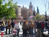 Els ciutadans han omplert la plaça Octavià de gom a gom