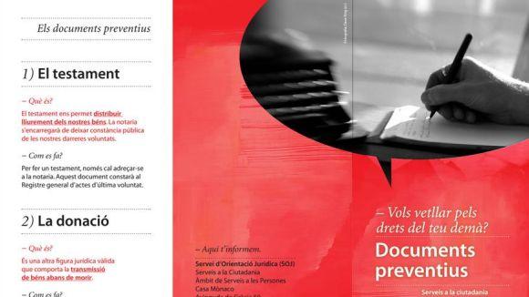 Una campanya de l'Ajuntament informa sobre els documents preventius