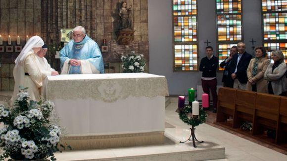 Moment d'una missa al convent de Sant Domènec / Font: Bisbat de Terrassa