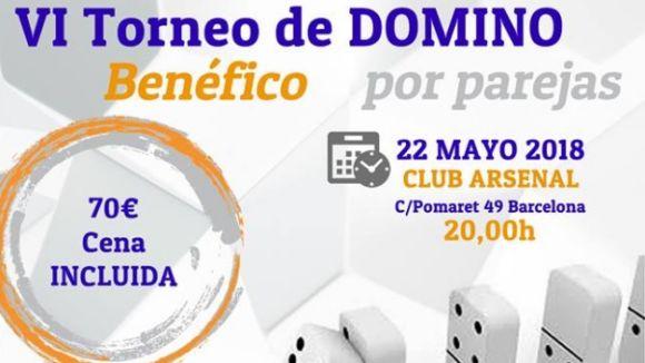 Cartell promocional del torneig benèfic de dòmino / Font: cedida