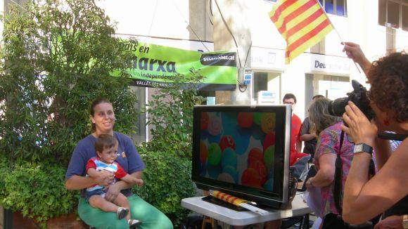 Sant Cugat posa la cara per la independència