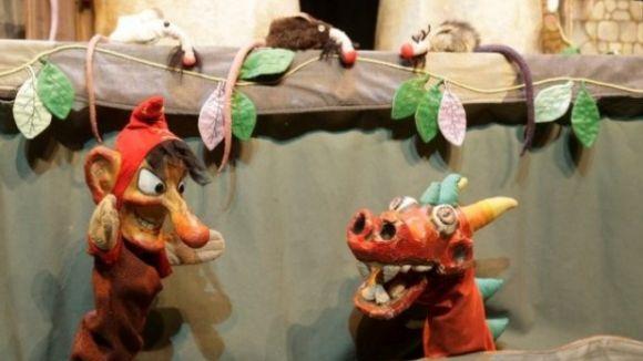 Un espectacle de titelles, aquest matí al Teatre-Auditori