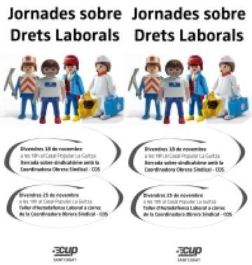 La CUP prepara unes jornades sobre drets laborals