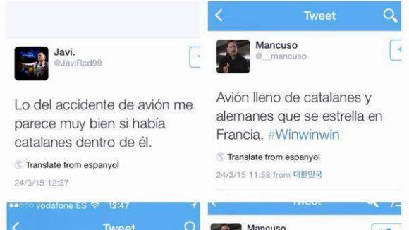 La Fiscalia veu delicte en els tuits catalanòfobs denunciats per Drets