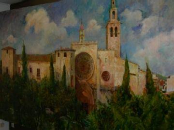 Un recull de pintures de Joan Martí, a la Sala Rusiñol