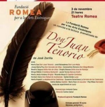 La lectura dramatitzada 'Don Juan Tenorio' es representarà per primera vegada al Teatre-Auditori