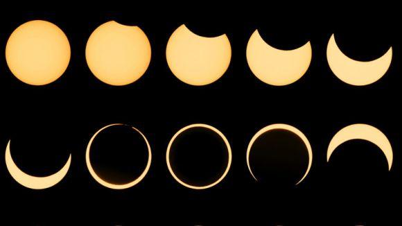 Els núvols fan la guitza a l'observació de l'eclipsi parcial de sol a Sant Cugat