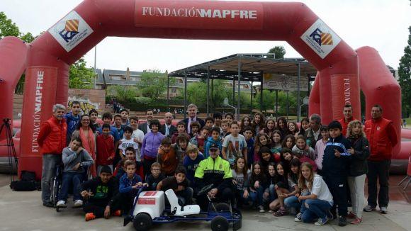 La Caravana d'Educació Viària de Mapfre forma 455 infants santcugatencs