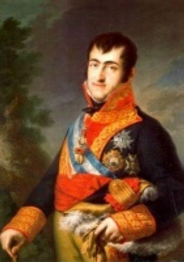 Retrat de Ferran VII per V. López Portaña