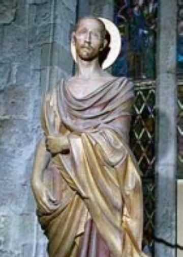 Sant Cugat en una escultura d'Enric Monjo