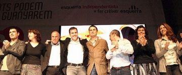 Eduard Anguita i altres militants de la dissolta Esquerra Independentista fan una crida a la unitat d'ERC