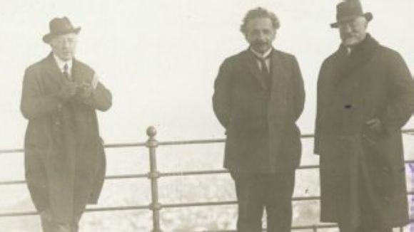 Einstein, al mig, durant la visita a Catalunya / Font: Fundació Recerca