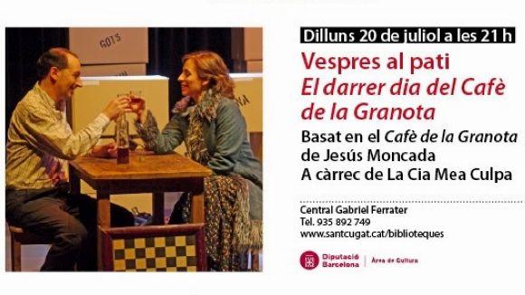 'El darrer dia del Cafè de la Granota', als Vespres al Pati de la Biblioteca Central
