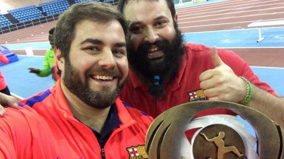 Eloi Rovira i Didac Salas es proclamen campions de la Copa del Rei d'atletisme amb el Barça