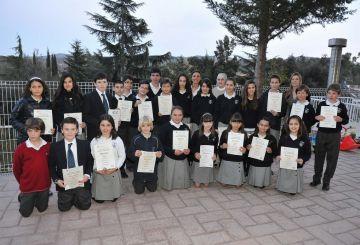 Els estudiants que van rebre el diploma a El Pinar