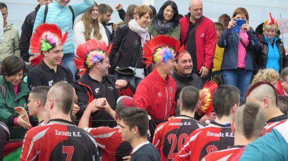 L'afició del Zarautz, una de les imatges destacades del campionat d'Espanya