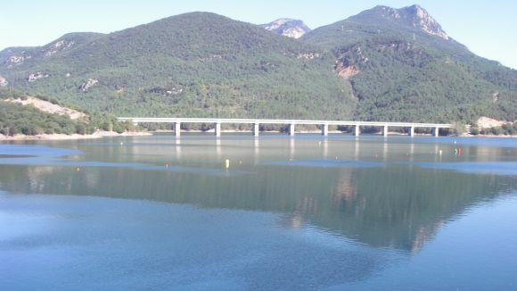 Imatge d'arxiu de l'embasssament de la Baells, al Llobregat / Foto: ACA