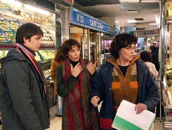 Vilarasau amb l'actor Roger Coma i la realitzadora Patrícia Ferreira