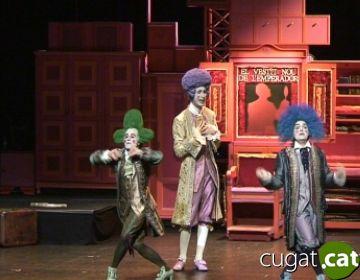 Tres dels actors a un moment de l'obra