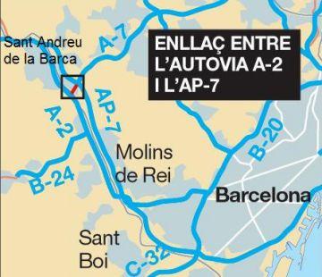 Sant Cugat i altres municipis afectats per la suspensió de l'enllaç A2-AP7 es troben amb Morlán