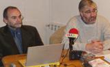 El president de la Fundació Sant Cugat, Joan Gaya, i el coordinador del Congrés de la Ciutat, Jordi Casas, van presentar ahir els resultats de l'enquesta