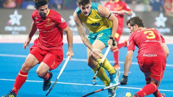 Imatge de Sergi Enrique durant un partit del mundial d'enguany / Foto: FIH
