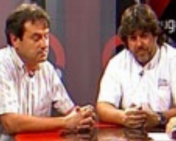 Rafael Robledo, president de la Unió Ciclista Sant Cugat, i Fèlix Gimeno, director general de R.P.M