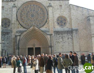 Centenars de santcugatencs donen l'últim adéu a Francesc Ribas Vinyeta