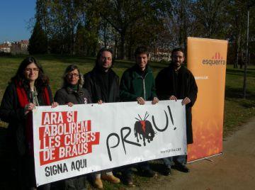 ERC, les JERC i el PACMA recolliran signatures per abolir les curses de braus