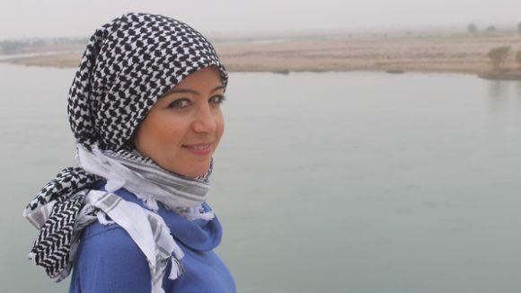 La periodista Zaina Erhaim / Foto: AFP